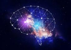 Konzept der menschlichen Intelligenz stockfoto