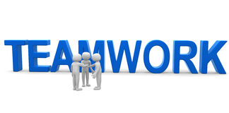 Konzept der Menschteamwork drei 3d Stockfotos