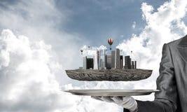 Konzept der modernen Stadtentwicklung Stockbilder