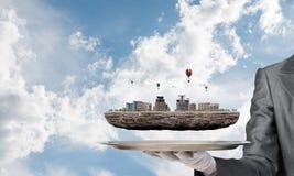 Konzept der modernen Stadtentwicklung Lizenzfreies Stockfoto