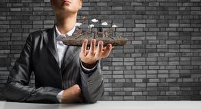 Konzept der modernen Stadtentwicklung Lizenzfreie Stockbilder