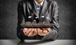 Konzept der modernen Stadtentwicklung Lizenzfreies Stockbild