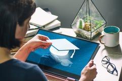 Konzept der modernen Technologie in der Ausbildung bild lizenzfreies stockfoto