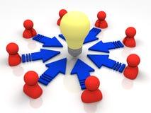 Konzept der neuen Idee Stockfotos