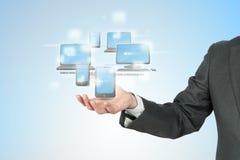 Konzept der neuen Technologie Lizenzfreie Stockfotos