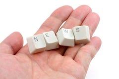 Konzept der Onlinenachrichtenmedien Stockbild
