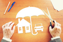 Konzept der persönlichen Immobiliarversicherung Stockfoto