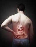 Konzept der rückseitigen Schmerz stockbild