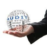 Konzept der Rechnungsprüfung im Geschäft Lizenzfreie Stockfotos