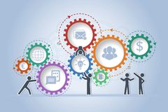 Konzept der Teamwork Lizenzfreie Stockfotografie