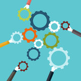 Konzept der Teamwork Stock Abbildung
