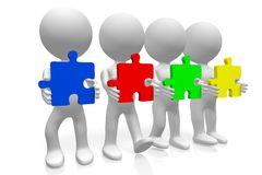 Konzept der Teamwork 3d Stockfotos