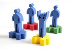 Konzept der Teamwork, der Leute und der Ikonen Stockbilder