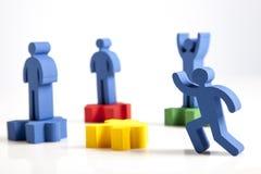 Konzept der Teamwork, der Leute und der Ikonen Stockfotografie