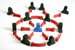 Konzept der Teamwork, der Leute und der Ikonen Stockbild