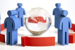 Konzept der Teamwork, der Leute und der Ikonen Stockfotos
