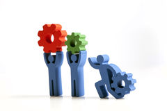 Konzept der Teamwork, der Leute und der Ikonen Lizenzfreies Stockbild