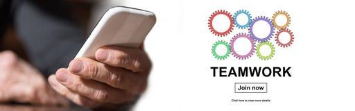 Konzept der Teamwork lizenzfreie stockfotos
