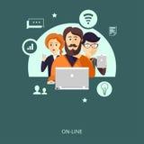 Konzept der Teamwork oder des anpassungsfähigen Designs Lizenzfreies Stockfoto