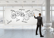 Konzept der Teamwork und der Zusammenarbeit Gemischte Medien Stockbilder