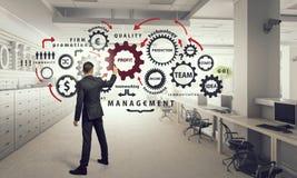 Konzept der Teamwork und der Zusammenarbeit Gemischte Medien Stockfotos