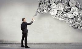 Konzept der Teamwork und der Zusammenarbeit Gemischte Medien Lizenzfreies Stockfoto
