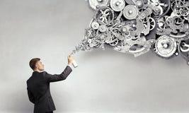 Konzept der Teamwork und der Zusammenarbeit Gemischte Medien Lizenzfreie Stockbilder