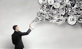 Konzept der Teamwork und der Zusammenarbeit Gemischte Medien Stockfoto