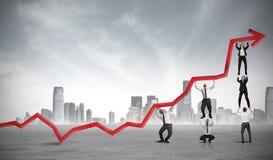 Teamwork und Unternehmensgewinn Stockbilder