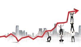 Teamwork und Unternehmensgewinn Lizenzfreies Stockbild