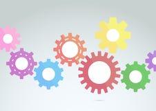 Konzept der technischen Grafik- Technologie Lizenzfreies Stockbild