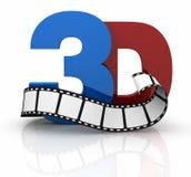 Konzept der Technologie des Films 3d Lizenzfreies Stockbild