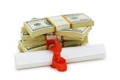 Konzept der teuren Ausbildung Lizenzfreie Stockfotos