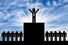 Konzept der Ungleichheit stock abbildung