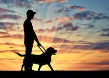 Konzept der Unterstützung zur Blinde mit Unfähigkeit Stockfotos