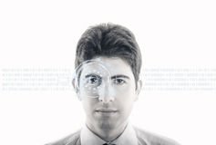 Konzept der virtuellen Noten-Schnittstelle Lizenzfreies Stockfoto