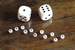 Konzept der Wahrscheinlichkeit, Nr. sieben Stockfotos