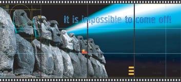 Konzept der Werbung des Kinos Stockfotografie
