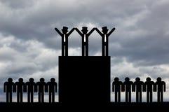Konzept der wirtschaftlichen Ungleichheit lizenzfreie abbildung