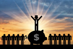 Konzept der wirtschaftlichen Ungleichheit stock abbildung