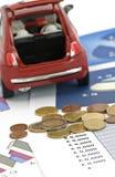 Konzept der Wirtschaftlichkeit und der Finanzierung - flacher dof Stockfotos