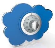 Konzept der Wolkendatenverarbeitung vektor abbildung