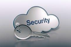 Konzept der Wolkendatenverarbeitung Lizenzfreie Stockfotografie