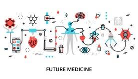 Konzept der zukünftigen Medizin stock abbildung