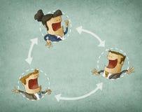Konzept der Zusammenarbeit Lizenzfreies Stockfoto