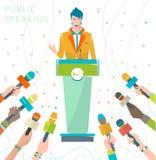 Konzept des öffentlichen Sprechens Stockbilder