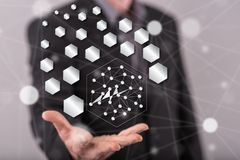 Konzept des abstrakten Netzes Stockbilder
