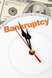 Konzept des Bankrotts Stockfotos