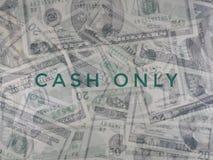 Konzept des Bargeldes nur Stockfotos