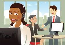 Konzept des Bildes ist erfolgreiche Geschäftsfrau lizenzfreie abbildung